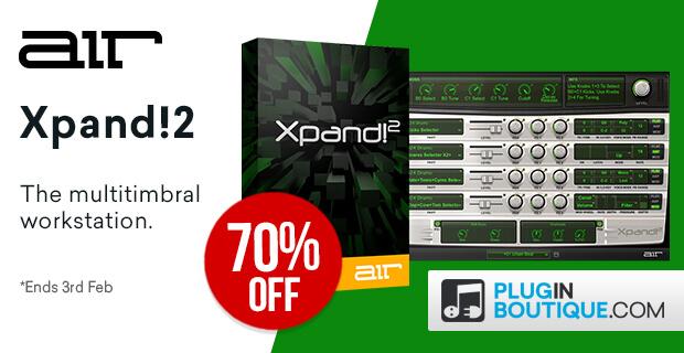 お手軽総合音源、AIR Music Technology「Xpand!2」が70%OFF