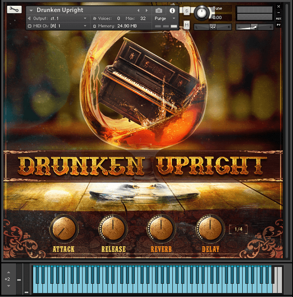ビンテージホンキートンクピアノ音源、VST BUZZ「The Drunken Upright