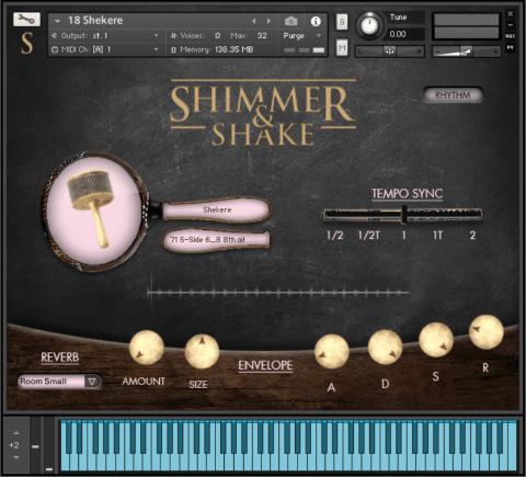 シェイカー音源ライブラリ、VST BUZZ「Shimmer & Shake