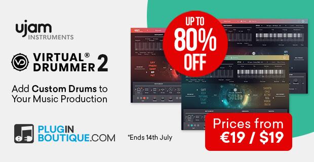 UJAM「Virtual Drummer 2」リリース!イントロプライスで最大80