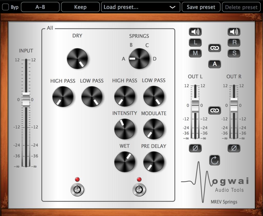 スプリングリバーブプラグイン、Mogwai Audio Tools「MREV-SPRINGS」(通常$39)が$9セール開催!